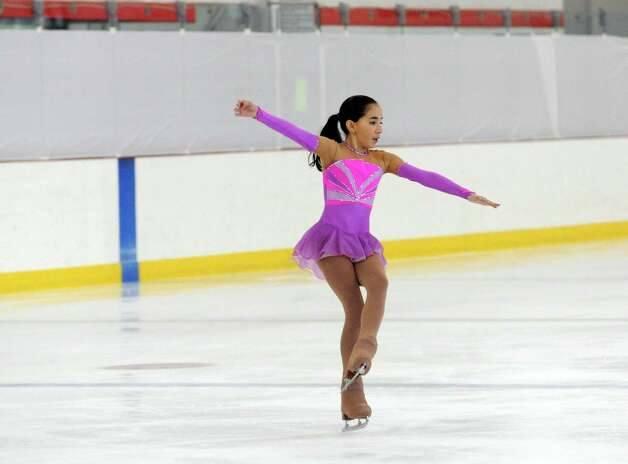 Maria Ibanez-Bringas, BSC, competing at the 2013 Greenwich Town Figure Skating Competition at the Dorothy Hamill Skating Rink, in Byram, Conn., Sunday, Feb. 24, 2013. Photo: Helen Neafsey / Greenwich Time