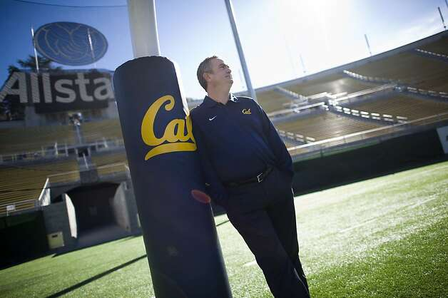 New head coach Sonny Dykes is changing Cal's look with inside receivers and a 4-3 defensive front. Photo: Michael Short, Special To The Chronicle