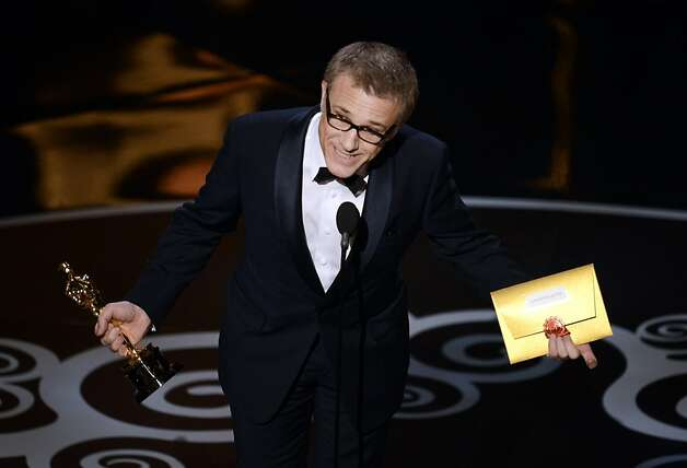 Christoph Waltz takes best supporting actor. Photo: Kevin Winter, Getty Images