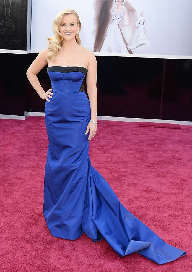 Reese Witherspoon's daughter helped choose her Vuitton gown. Photo: Jason Merritt, Getty Images