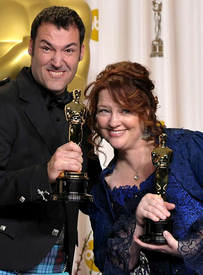 """Brave"" directors Mark Andrews and Brenda Chapman took home the Oscar for best animated feature film. Photo: John Shearer, Associated Press"