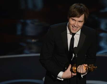 Best Live Action Short Film winner Shawn Christensen addresses the audience onstage at the 85th Annual Academy Awards on February 24, 2013 in Hollywood, California. AFP PHOTO/Robyn BECKROBYN BECK/AFP/Getty Images Photo: ROBYN BECK, AFP/Getty Images / AFP