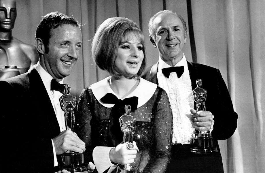 Before today, there had been only two ties for an Academy Award. In 1968, Barbra Streisand, center, tied Katherine Hepburn for Best Actress. Photo: ASSOCIATED PRESS / AP1969