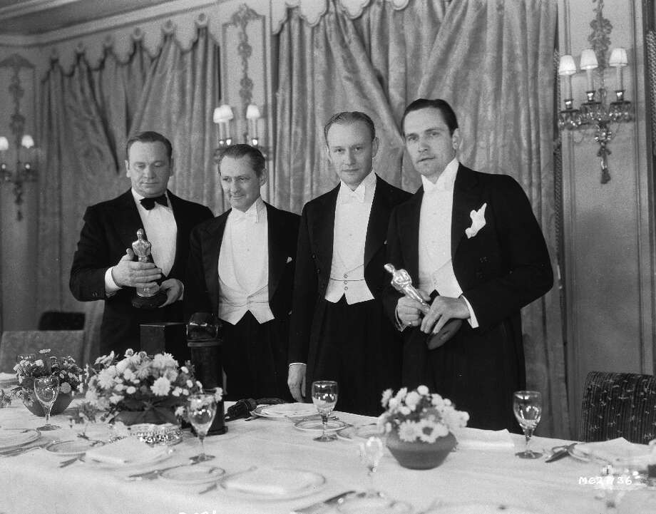 In 1932 Wallace Beery, left, and Fredric March right, both won Academy Awards for Best Actor. Photo: John Kobal Foundation, Getty Images / Moviepix