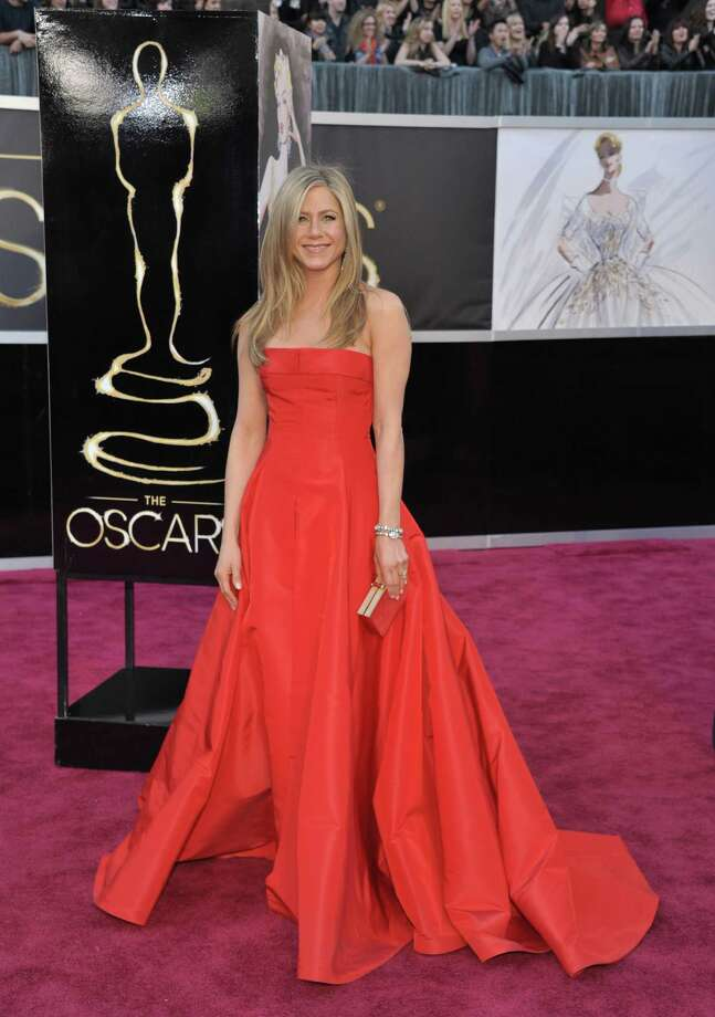 Actress Jennifer Aniston arrives at the Oscars at the Dolby Theatre on Sunday Feb. 24, 2013, in Los Angeles. (Photo by John Shearer/Invision/AP) Photo: John Shearer