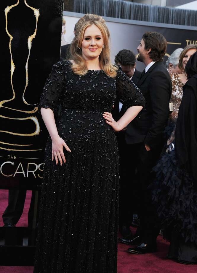 HOLLYWOOD, CA - FEBRUARY 24:  Singer Adele arrives at the Oscars at Hollywood & Highland Center on February 24, 2013 in Hollywood, California.  (Photo by Steve Granitz/WireImage)