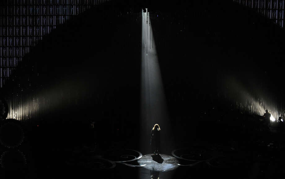 Singer Adele performs onstage at the 85th Annual Academy Awards on February 24, 2013 in Hollywood, California. Photo: ROBYN BECK, AFP/Getty Images / 2013 AFP
