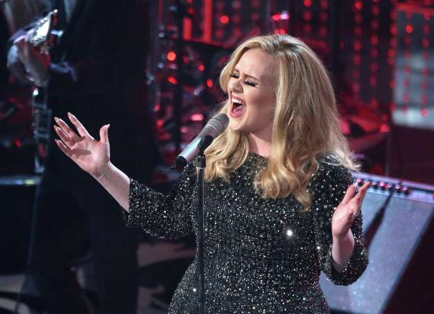 Singer Adele performs onstage during the Oscars held at the Dolby Theatre on February 24, 2013 in Hollywood, California. Photo: Mark Davis, WireImage / 2013 WireImage