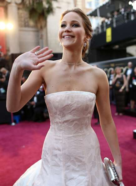 Actress Jennifer Lawrence arrives at the Oscars held at Hollywood & Highland Center on February 24,