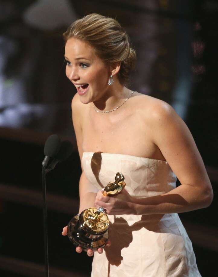 Actress Jennifer Lawrence onstage during the Oscars held at the Dolby Theatre on February 24, 2013 in Hollywood, California.