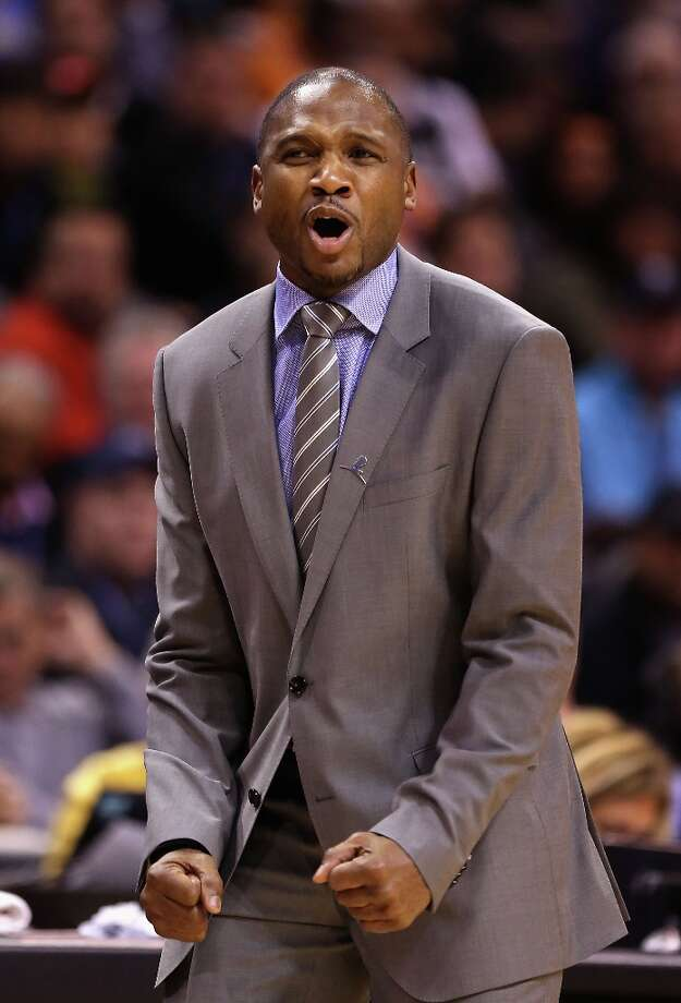 Suns coach Lindsey Hunter  reacts during the first half against the Spurs at US Airways Center on Feb. 24, 2013 in Phoenix. Photo: Christian Petersen, Getty Images / 2013 Getty Images