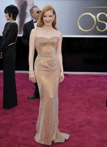 Jessica Chastain in Armani Privé Photo: John Shearer, INVL -end- / Invision