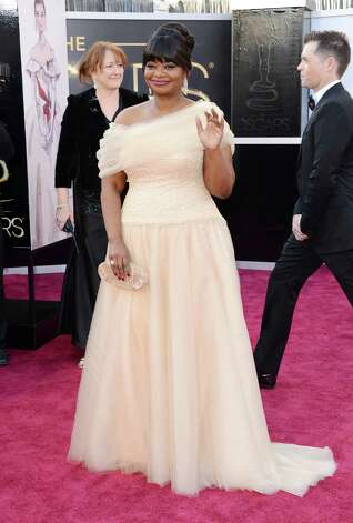 HOLLYWOOD, CA - FEBRUARY 24:  Actress Octavia Spencer arrives at the Oscars at Hollywood & Highland Center on February 24, 2013 in Hollywood, California.  (Photo by Jason Merritt/Getty Images) Photo: Jason Merritt, Staff / 2013 Getty Images