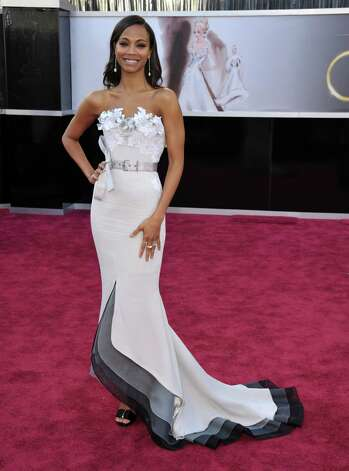 Zoe Saldana in Alexis Mabille Couture Photo: John Shearer, INVL / Invision