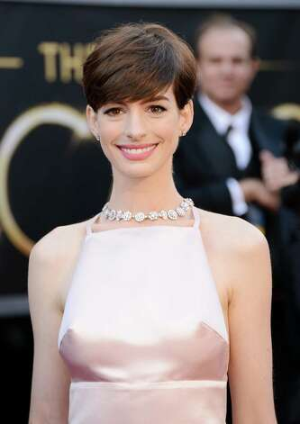 HOLLYWOOD, CA - FEBRUARY 24:  Actress Anne Hathaway arrives at the Oscars at Hollywood & Highland Center on February 24, 2013 in Hollywood, California.  (Photo by Jason Merritt/Getty Images) Photo: Jason Merritt, Staff / 2013 Getty Images