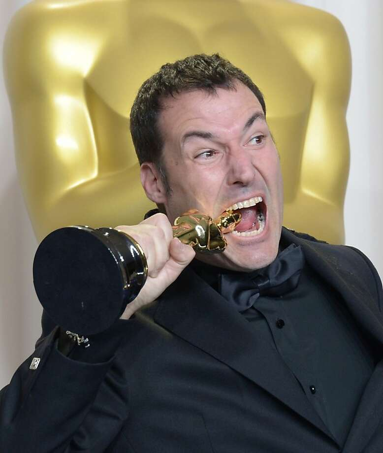 "Co-director Mark Andrews celebrates winning the Best Animated Feature Film award for ""Brave"" during the 85 Academy Awards on February 24, 2013 in Hollywood, California. Photo: Joe Klamar, AFP/Getty Images"