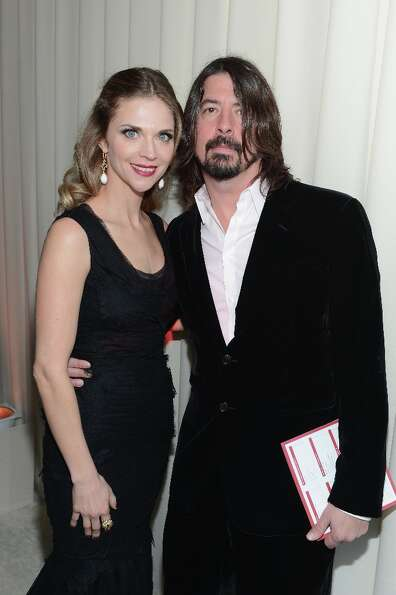 WEST HOLLYWOOD, CA - FEBRUARY 24:  (L-R) Jordyn Grohl and musician Dave Grohl attend the 21st Annual