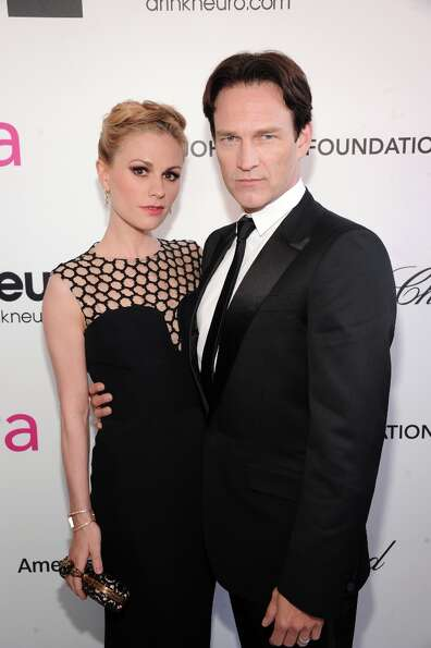 WEST HOLLYWOOD, CA - FEBRUARY 24:  (L-R) Actors Anna Paquin and Stephen Moyer attend the 21st Annual
