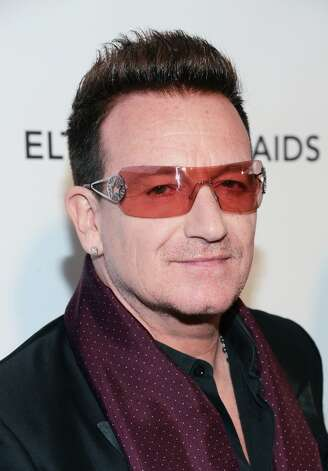 Musician Bono attends the 21st Annual Elton John AIDS Foundation Academy Awards Viewing Party at Pacific Design Center on February 24, 2013 in West Hollywood, California. Photo: Jason Kempin, Getty Images For EJAF / 2013 Getty Images