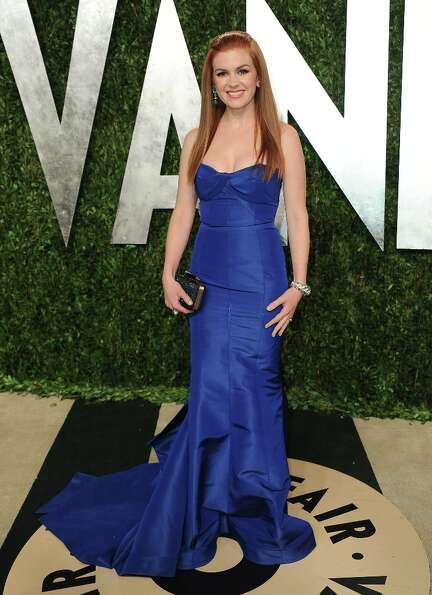 Actress Isla Fisher arrives at the 2013 Vanity Fair Oscars Viewing and After Party on Sunday, Feb. 2