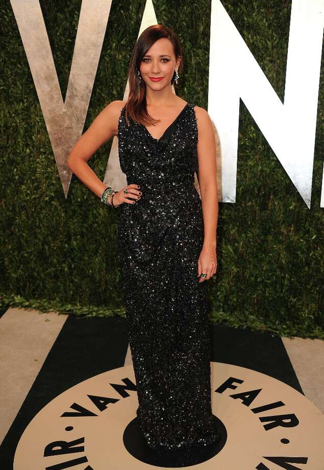 Actress Rashida Jones arrives at the 2013 Vanity Fair Oscars Viewing and After Party on Sunday, Feb. 24 2013 at the Sunset Plaza Hotel in West Hollywood, Calif. (Photo by Jordan Strauss/Invision/AP) Photo: Jordan Strauss, Associated Press / Invision