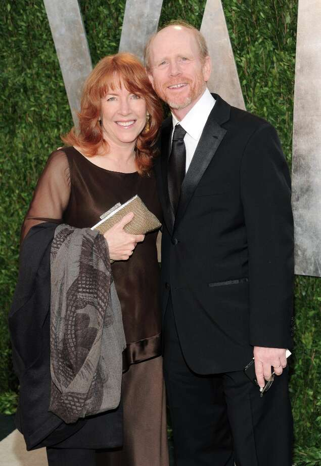 Actor Ron Howard, right, and wife, actress Cheryl Howard arrive at the 2013 Vanity Fair Oscars Viewing and After Party, Sunday, Feb. 24, 2013, at the Sunset Plaza Hotel in West Hollywood, Calif. (Photo by Evan Agostini/Invision/AP) Photo: Evan Agostini, Associated Press / Invision