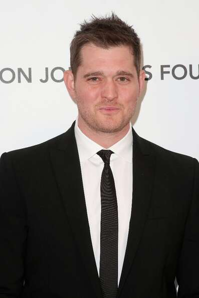 Singer Michael Bublé arrives at the 21st Annual Elton John AIDS Foundation's Oscar Viewing Party on