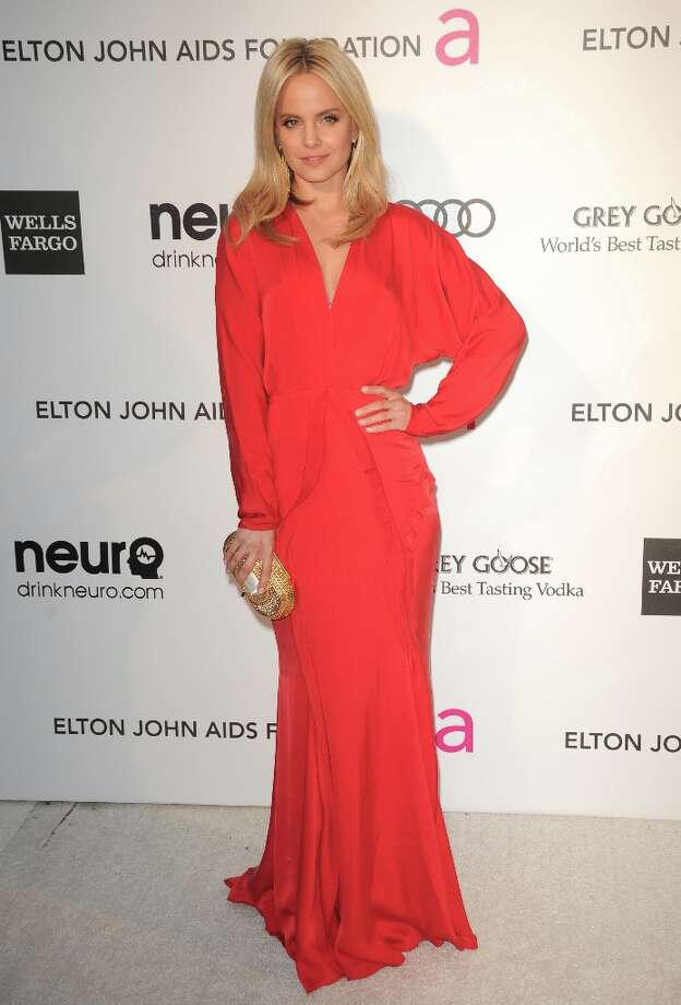 Actress Mena Suvari arrives for the 21st Annual Elton John AIDS Foundation's Oscar Viewing Party  February 24, 2013 in Hollywood, California. AFP PHOTO/Mehdi TAAMALLAHMEHDI TAAMALLAH/AFP/Getty Images Photo: MEHDI TAAMALLAH, AFP/Getty Images / AFP