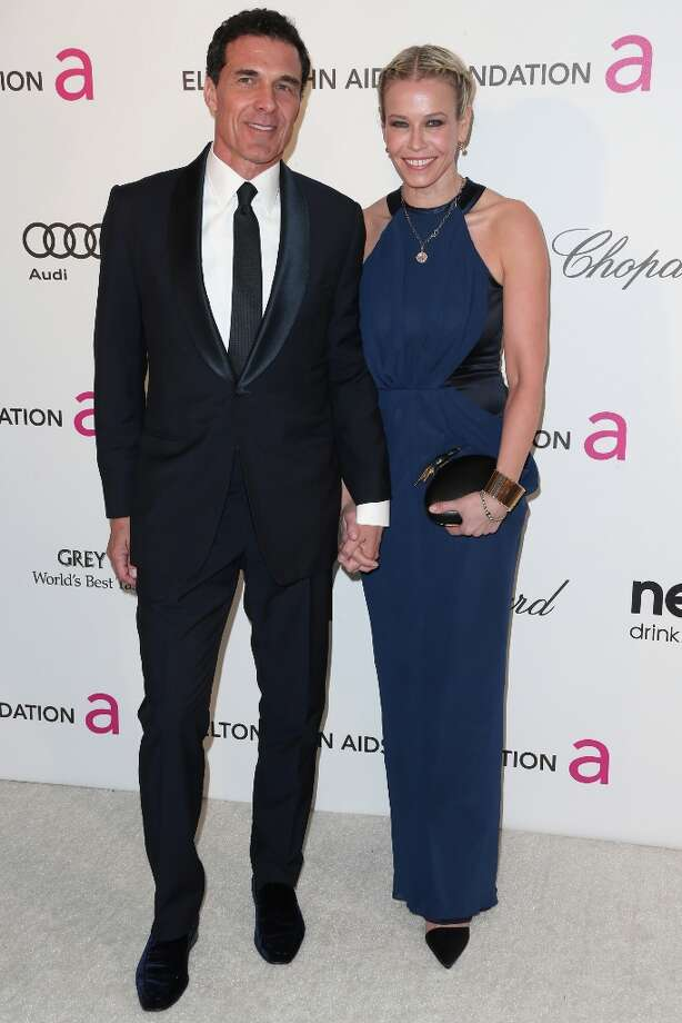 LOS ANGELES, CA - FEBRUARY 24:  Andre Balazs and TV host Chelsea Handler arrive at the 21st Annual Elton John AIDS Foundation's Oscar Viewing Party on February 24, 2013 in Los Angeles, California. Photo: Frederick M. Brown, Getty Images / 2013 Getty Images