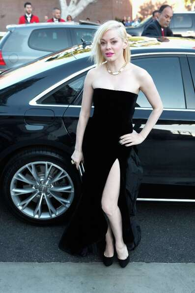 WEST HOLLYWOOD, CA - FEBRUARY 24: Rose McGowan attends Audi at 21st Annual Elton John AIDS Foundatio