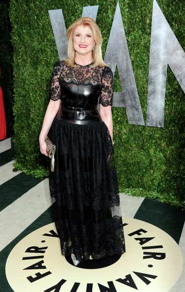 Author Arianna Huffington arrives at the 2013 Vanity Fair Oscars Viewing and After Party, Sunday, Fe