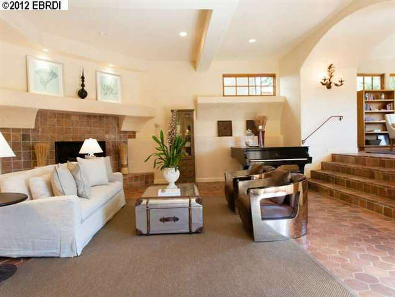 The home has multiple levels - this is one of the sunken entertaining areas