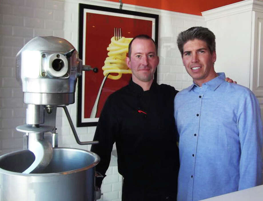 Brothers Andrew and David Tavolacci recently opened Tutto Pasta in Fairfield, where pasta is made fresh daily. Photo: Patti Woods / Fairfield Citizen contributed