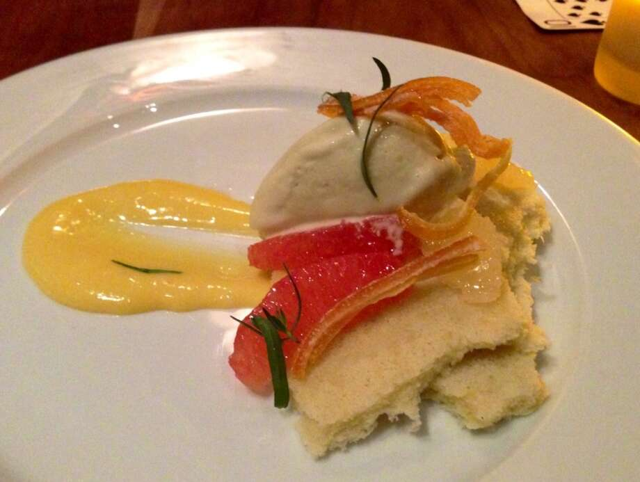 Olive oil chiffon cake with grapefruit at Incanto