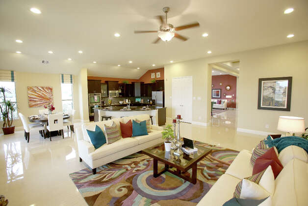 The great room: a kitchen/family room. The kitchen has a large island. Photo: Thomas B. Shea / © 2012 Thomas B. Shea
