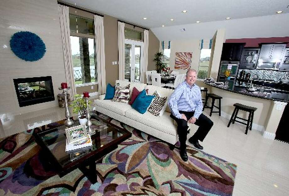 Jim Harrison, KB Home's new Houston division president, in the one-story model in Canyon Lake West Estates.
