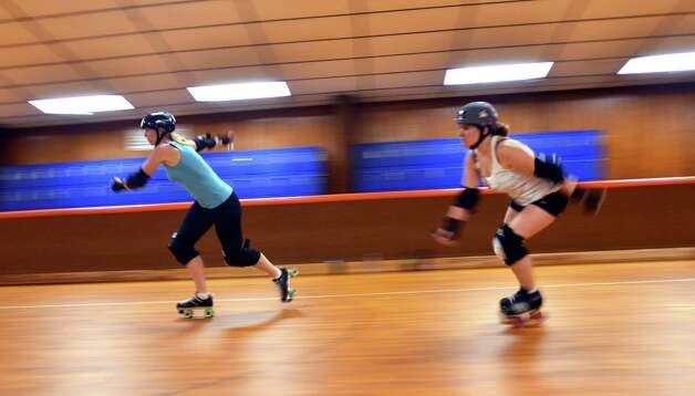 The Roller Girls go through skating drills every Monday night at Manning's Texas on Wheels. Beth Rankin/cat5