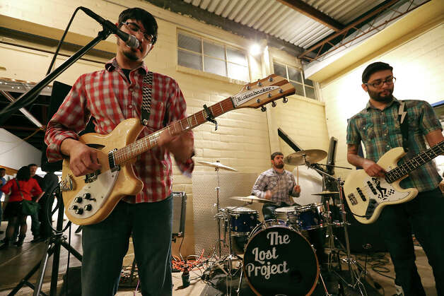The Lost Project's Jason Valdez (from left), Nick Valdez and D.J. Aleman perform during Second Saturday in the South Flores Arts District Saturday Feb. 9, 2013. Photo: Edward A. Ornelas, San Antonio Express-News / © 2013 San Antonio Express-News