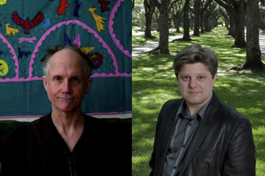 Two possible candidates for poet laureate of Houston are Tony Hoagland (left) at the University of Houston and Joseph Campana at Rice University.