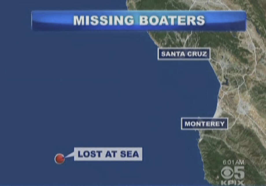 Two adults and two children were missing at sea after abandoning ship off the Central California coast. Photo: CBS San Francisco