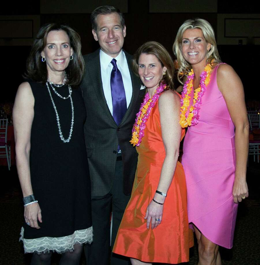 In 2013, Horizons turns 50, which will be celebrated on Saturday, March 2, at a biennial benefit gala in Greenwich. New Canaan resident Brian Williams, anchor and managing editor of NBC Nightly News, will emcee the event. With him, from left, are his wife, Jane Stoddard Williams, who is among seven honorees for the evening; and Sarah Casey and Anne-Lie Kleeman, co-chairmen of the event. Photo: Contributed