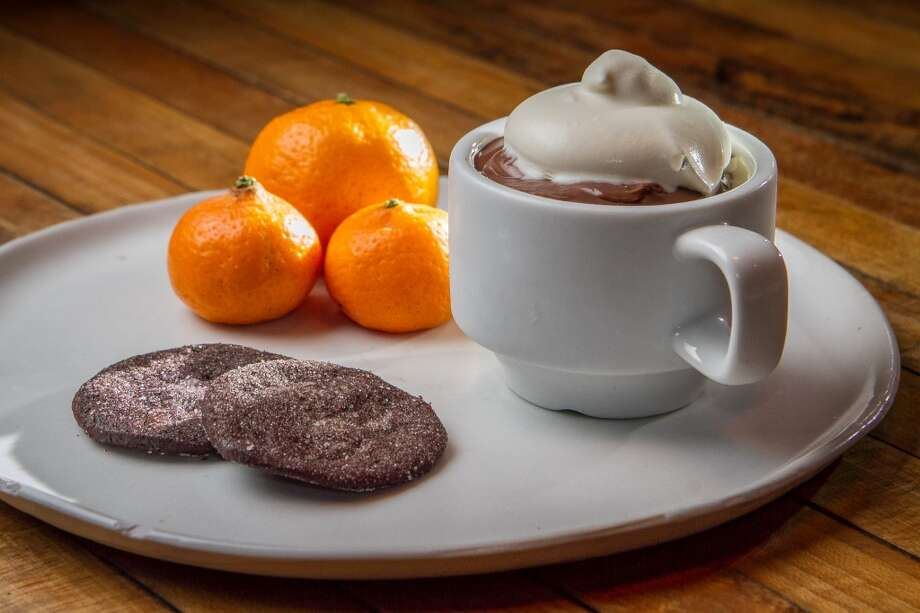 On my final visit, I had another Chez Panisse moment. The kitchen replaced one of the ice cream sandwiches with a small cup of chocolate pudding ($6) with a rum whipped cream, two chocolate wafer cookies and three tiny Kishu tangerines. I'd never seen citrus quite this small, no bigger than a walnut, but the flavors were intense.