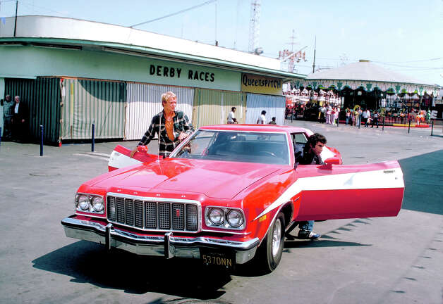 "The Ford Gran Torinos used in ""Starsky & Hutch"" were affectionately known as the Striped Tomato. Photo: ABC Photo Archives, Getty Images / American Broadcasting Companies, Inc."