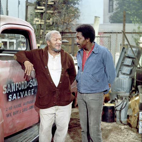 "Redd Foxx drove a 1951 Ford F1 pickup as Fred Sanford in ""Sanford and Son."" Well, actually it mostly sat in the driveway. Photo: NBC, Getty Images / 2012 NBCUniversal, Inc."