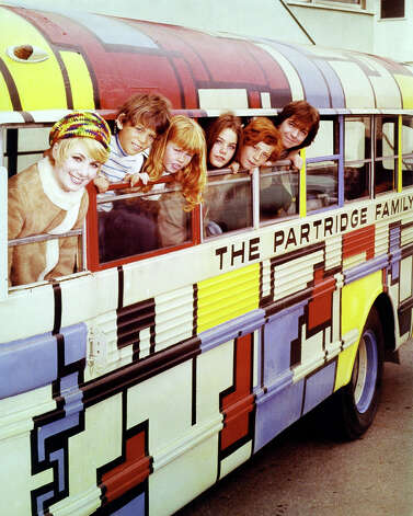 """The Partridge Family"" bus was a retired Orange County school bus that was supposedly painted by the kids in the show. Photo: Silver Screen Collection, Getty Images / Moviepix"