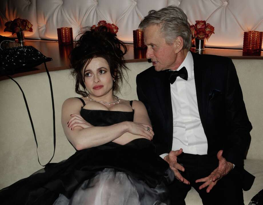 Actors Helena Bonham Carter and Michael Douglas attend the 2013 Vanity Fair Oscar Party hosted by Graydon Carter at Sunset Tower on February 24, 2013 in West Hollywood, California. Photo: Jeff Vespa/VF13, WireImage / 2013 Jeff Vespa/VF13