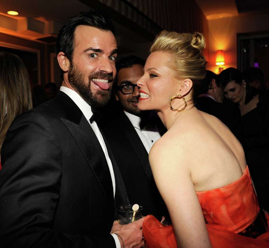 Justin Theroux and Elizabeth Banks attend the 2013 Vanity Fair Oscar Party hosted by Graydon Carter at Sunset Tower on February 24, 2013 in West Hollywood, California. Photo: Kevin Mazur/VF13, WireImage / 2013 Kevin Mazur/VF13