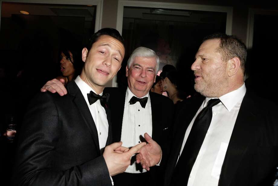 Joseph Gordon-Levitt, Chris Dodd and Harvey Weinstein attend the 2013 Vanity Fair Oscar Party hosted by Graydon Carter at Sunset Tower on February 24, 2013 in West Hollywood, California. Photo: Jeff Vespa/VF13, WireImage / 2013 Jeff Vespa/VF13