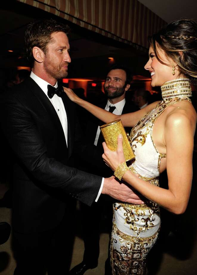 Gerard Butler and Alessanda Ambrosio attend the 2013 Vanity Fair Oscar Party hosted by Graydon Carter at Sunset Tower on February 24, 2013 in West Hollywood, California. Photo: Kevin Mazur/VF13, WireImage / 2013 Kevin Mazur/VF13
