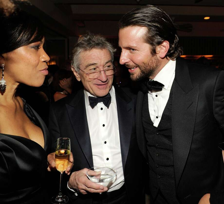 Grace Hightower, Robert DeNiro and Bradley Cooper attend the 2013 Vanity Fair Oscar Party hosted by Graydon Carter at Sunset Tower on February 24, 2013 in West Hollywood, California. Photo: Kevin Mazur/VF13, WireImage / 2013 Kevin Mazur/VF13